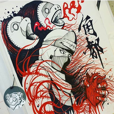 Awesome Drawing Featured Artist Ochrefoxtattoo Hope You Like Comment Your Opinion Naruto Painting Naruto Drawings Naruto Sketch