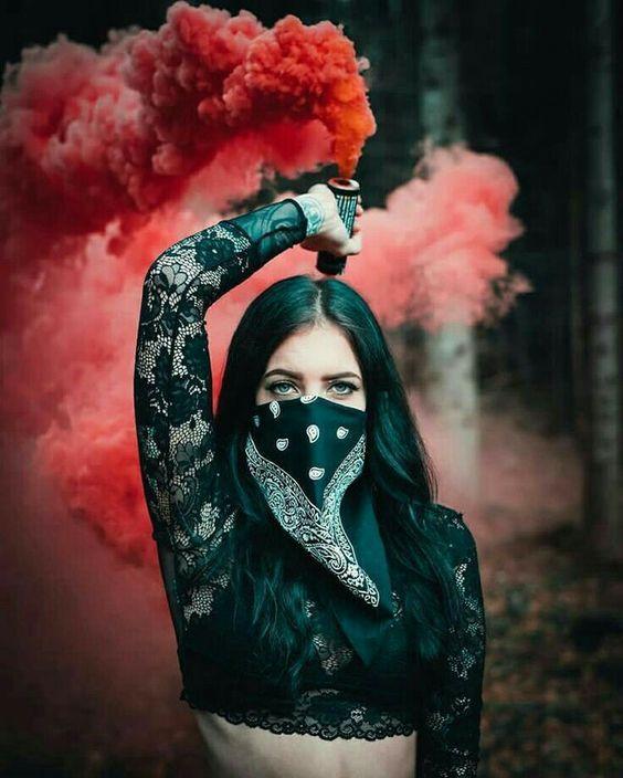 Vaptio Vape Ecig Girl Model Photography Smoke Bomb Photography Smoke Pictures
