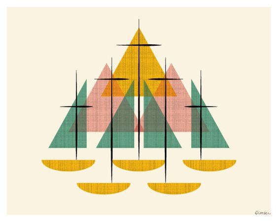 Mid Century Modern Sailboats by ModernSouth 0