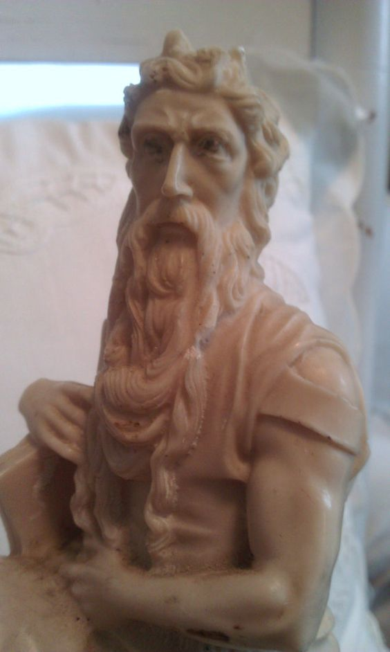 Vintage A Santini made in Italy moses statue by shabbychatue, $18.00