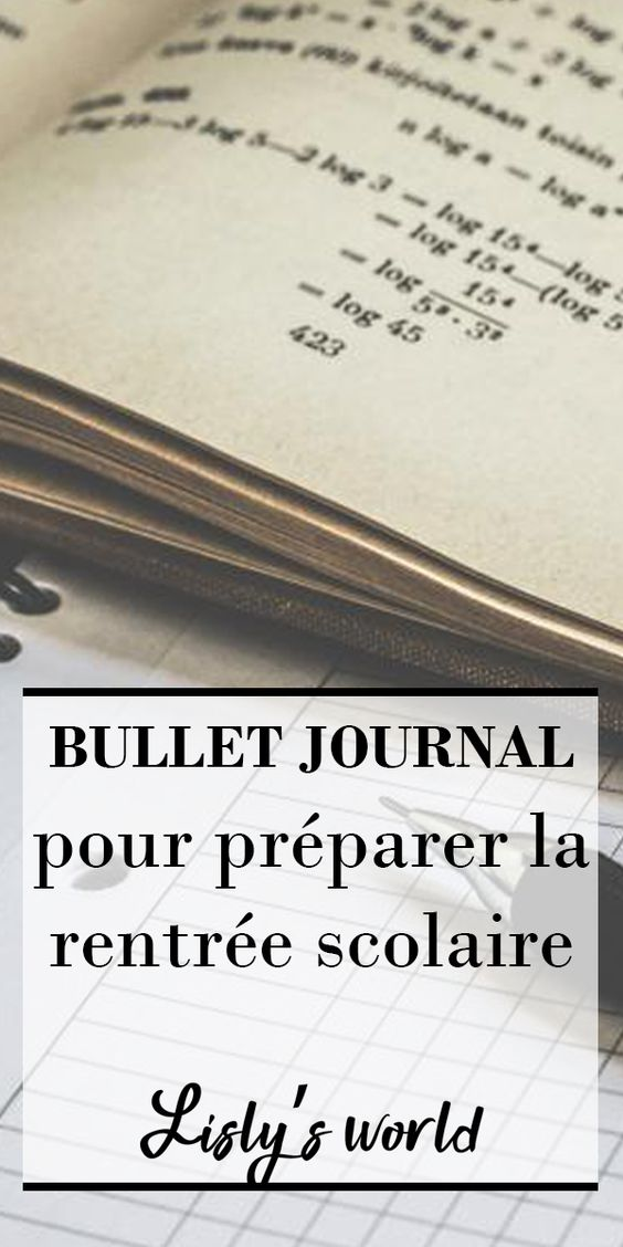 Préparer la rentrée avec son Bullet Journal