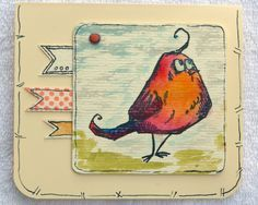 I am crazy about Bird Crazy. Thanks to Iriska for her inspiration. I made my card on cream CS. Bird has purple shades with pinks, reds and Yellows. All line work by hand. Love him!!!!!