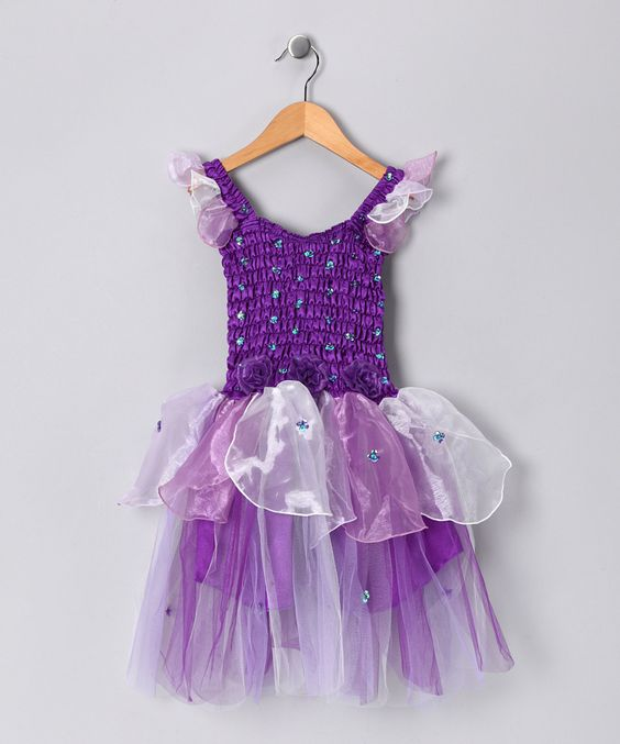 Purple Abigail Dress - Toddler & Girls    Michelle