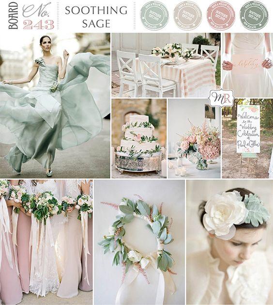 Greyed jade and pink wedding