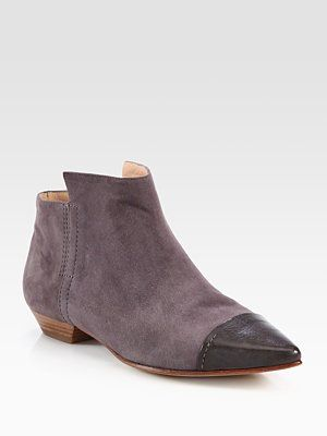 Sigerson Morrison - Charis Suede & Leather Ankle Boots