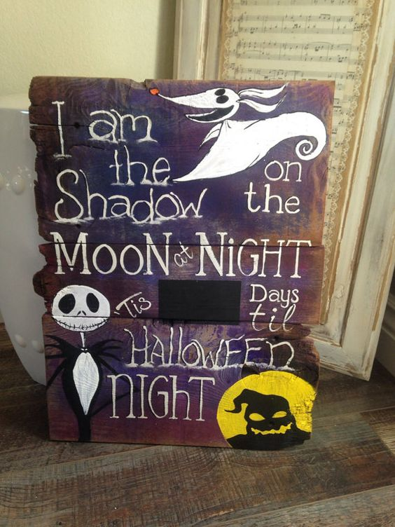 The Nightmare Before Christmas Countdown Sign by TeedumTeedee