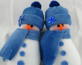 Pupazzo di neve ornamenti Set da 2 Spirù Frizzle di ByFreddismom