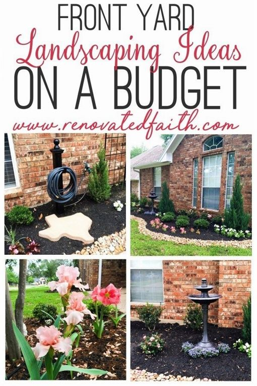 Best Front Yard Landscaping Ideas On A Budget Diy Landscape Design Front Yard Landscaping Diy Budget Landscaping Backyard Landscaping