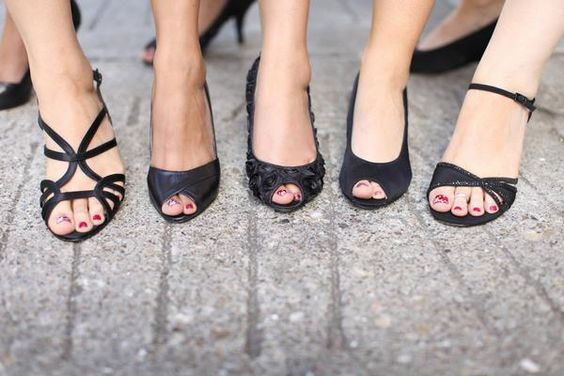 Wedding Party Foot Photo