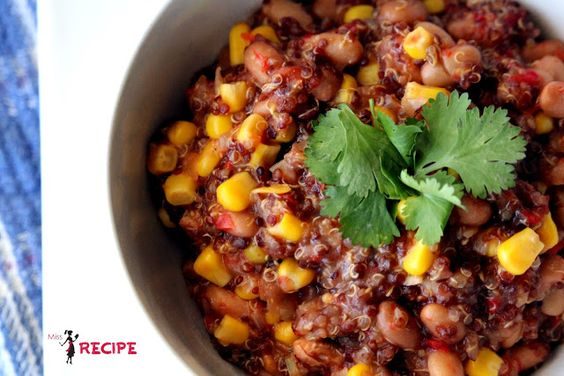 Quinoa et fèves pinto à la mexicaine | Mexican pinto beans and quinoa - Miss-Recipe.com