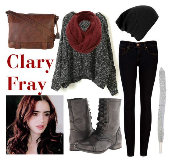 """Clary Fray"" by theimpossiblegirl6 ❤ liked on Polyvore featuring SELECTED, Ted Baker, Steve Madden and Frye"