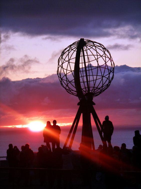 Nordkap (North Cape) Norway, northern most point in Europe, midnight sun. by Jürgen Wernig