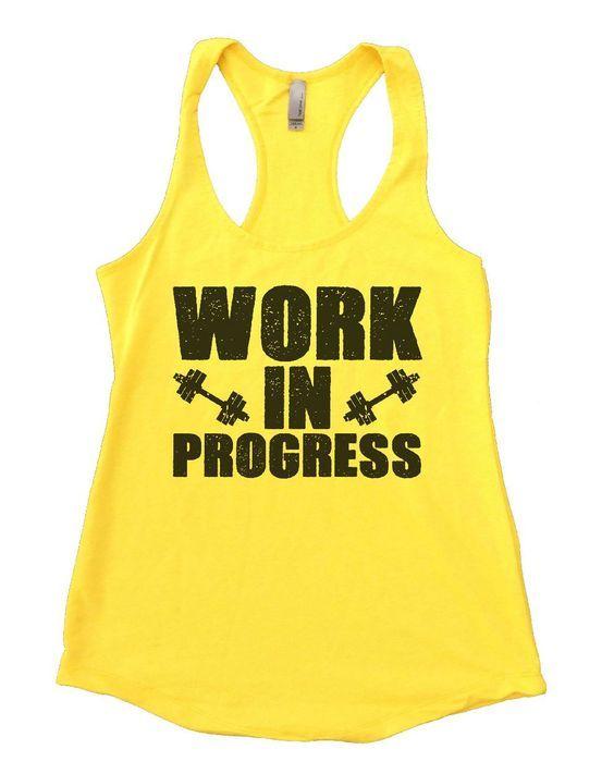Athletic Tank Top Muscle Tank Gym top Slow progress is better then no progress Motivation Womens Workout Top Workout Tank