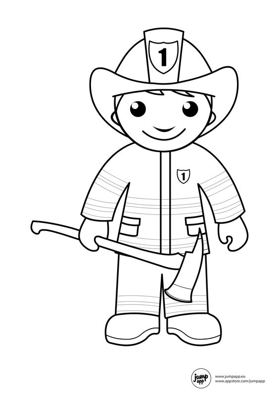 firefighter coloring pages preschool alphabet - photo#7