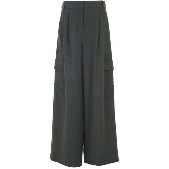 Tibi Owen Twill Wide-Leg Pants ($465) ❤ liked on Polyvore ...