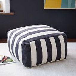 Simple Stripe Pouf
