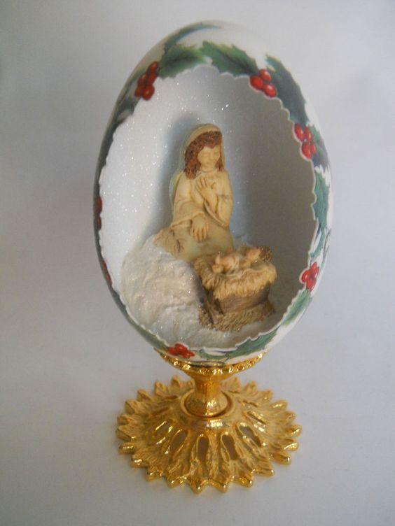 Goose Egg Diorama Nativity Scene