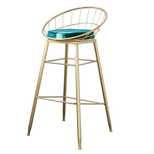 Barstools High Chair Barstools Chair Footrest High Stool Green Upholstered Dining Chairs As Stool For Kitchen Pub Iron Bar Stools Bar Stools Retro Bar Stools