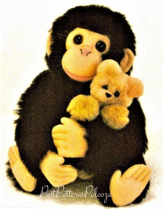 Little monkey Toy monkey handmade Toys and plush stuffed toys OOAC handmade art doll animal kawaii plush Teddy Souvenir Gift Collectible toy