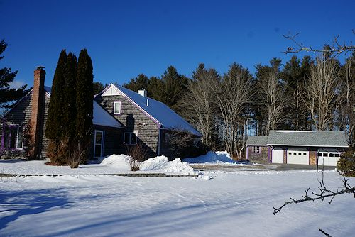 Penobscot Maine Oceanfront Property New Shingled Roofs On House