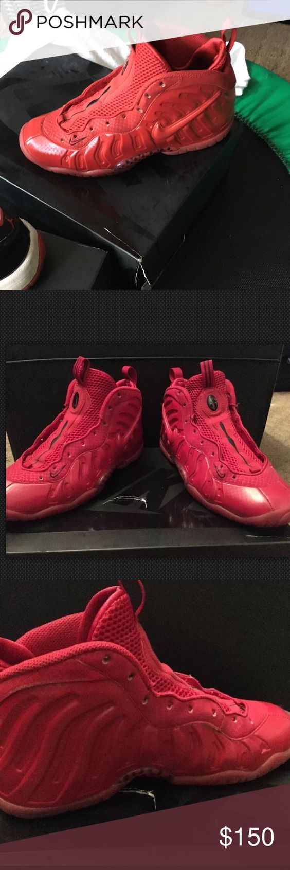 2015 Gym Red Foamposites Pre-Owned THESE ARE PRE-OWNED 2015 GYM RED FOAMPOSITES SIZE 6Y! Nike Shoes Sneakers