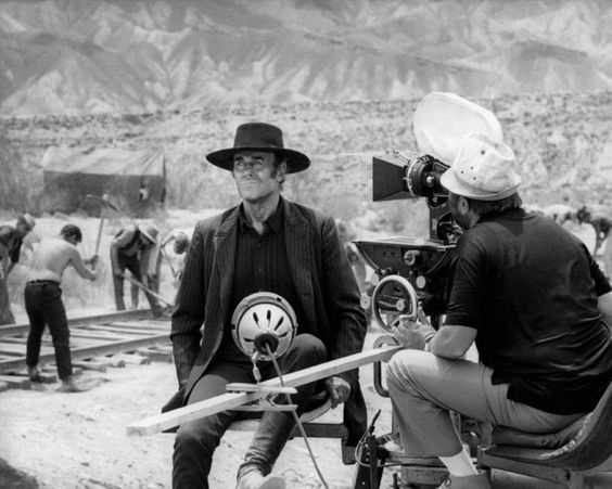 "Henry Fonda and Sergio Leone on the set of ""Once Upon a Time in the West"""