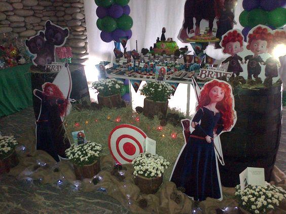Decoracion De Mesa De Torta Brave La Princesa Valiente