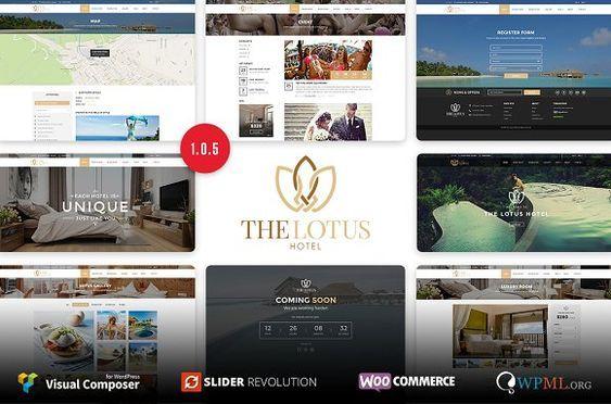 Lotus Hotel Booking Wordpresstheme With Images Wordpress
