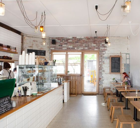 Coffee shop design retail design wee jeanie melbourne for Industrial design firms melbourne