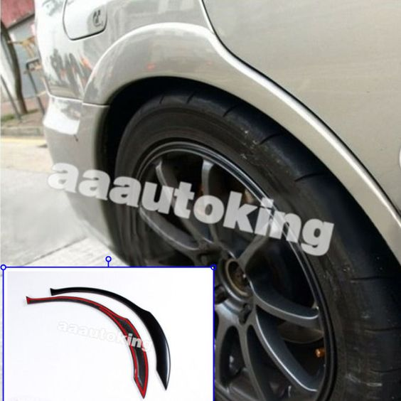 Black Wheel Side Arch Cover Trims Fender Flares Fit For Subaru Impreza STI 02-09 #AAAutoking