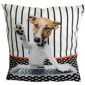 Capa para Almofada Uniart Cachorro Computador - Estampada - Almofadas no Extra.com.br
