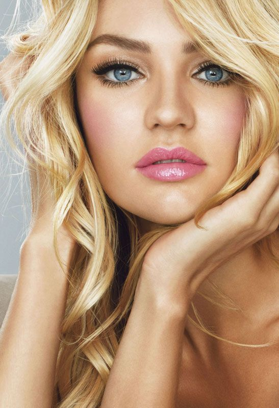 candice swanepoel long hair makeup hair extensions