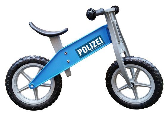Redtoys,stabiles Kindergarten-Laufrad, im Polizei Design blau, leicht, 2,8 kg Gesamtgewicht, wetterfest, 2-5 J | TO31PO