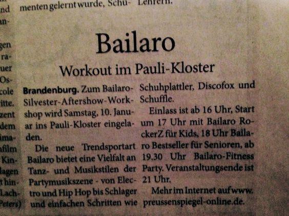 Ich sag nur Bailaro - Silvester Aftershow Workshop ^^ Das wird überwältigend! Neue Choreo´s, hammermäßige Beats, die coolsten Leute Deutschlands - alles versammelt sich an einem Ort!!! ;P