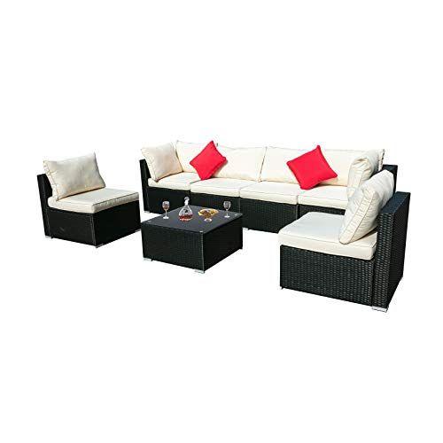 See Doit Outdoor Rattan Patio Garden Sofa Wicker Patio Section