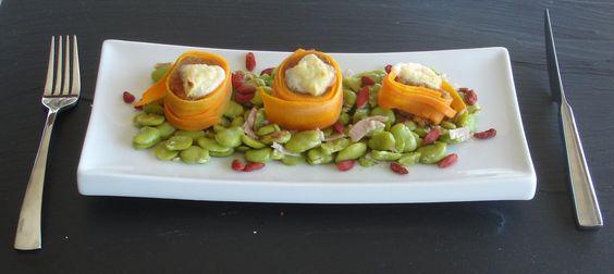 Salada de Favas com Tronco de Farinheira