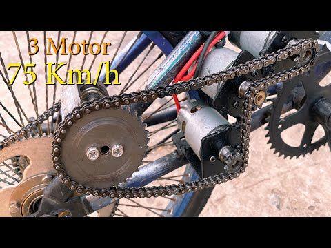 Chế Xe đạp 3 Motor điện 775 Tốc độ 75km H Diy Make Electric Bike