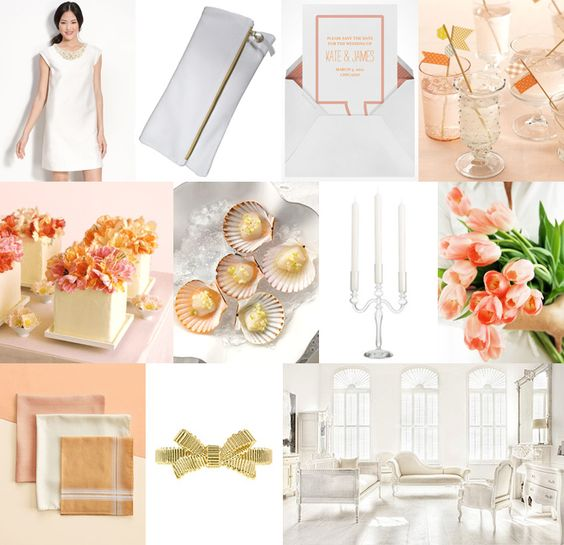 Seashell pink & white inspiration from Snippet & Ink #wedding