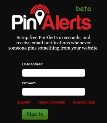 PinAlerts: Discover When One of Your Images Gets Pinned on Pinterest