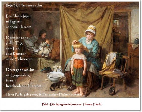 Bildgedicht (Meine) Herzenssache - Gedicht von Horst Bulla, dt. Freidenker, Dichter & Autor - Gedichte - Zitate - Quotes - deutsch