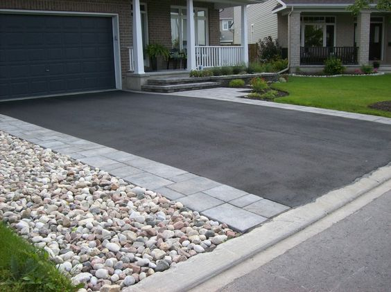 Green landscaping and ideas on pinterest for New driveway ideas