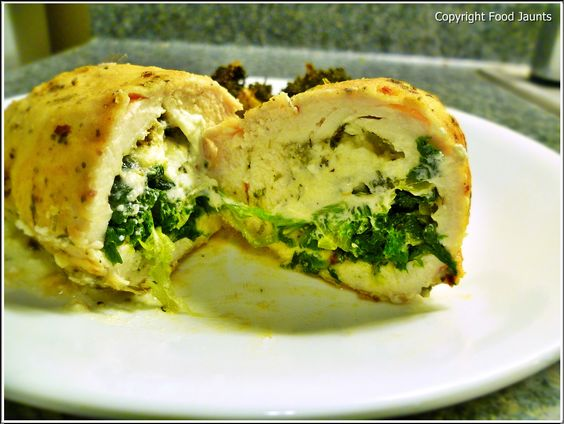 Recipe: Arugula Goat Cheese Chicken with Roasted Broccoli & PotatoesFood Jaunts