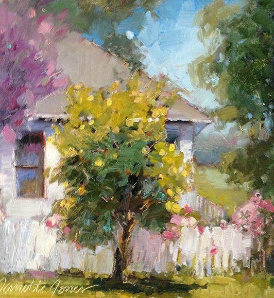 Lemon Tree by Janette Jones Oil ~ 10 x 10