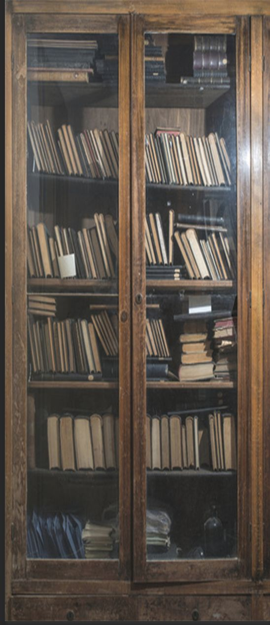 Old Books In A Vintage Library Door Wrap