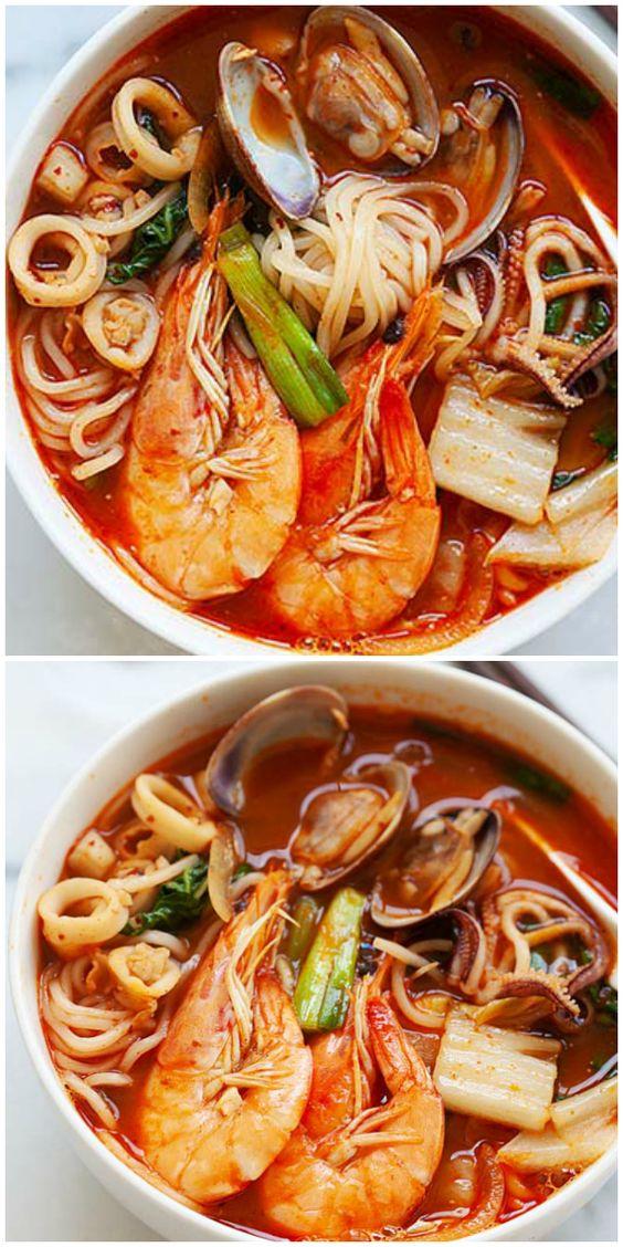 Korean Seafood Noodle Soup