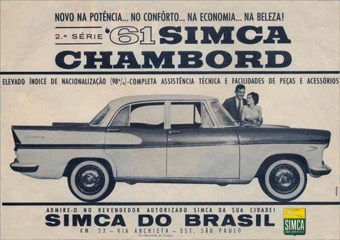 Simca Chambord Carros De Luxo Carros E Anuncios Antigos