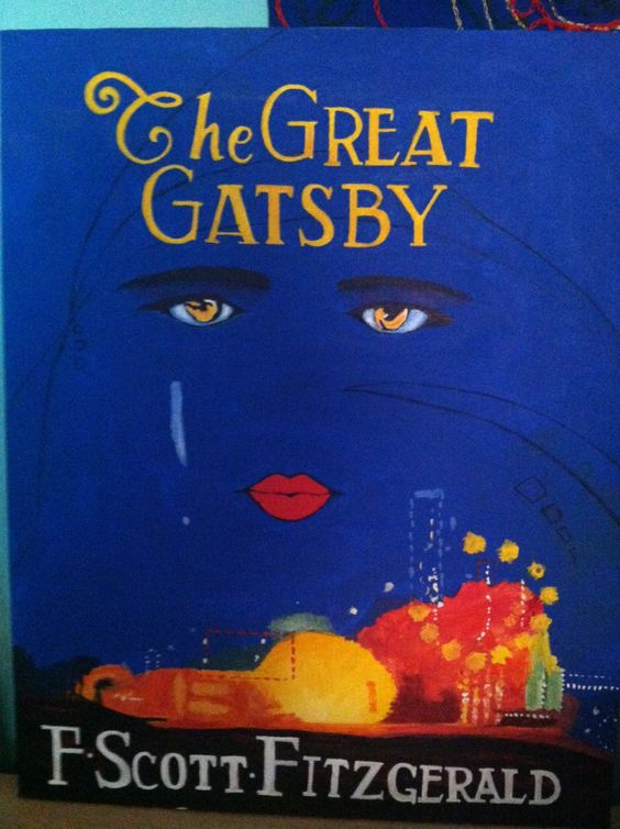 Great Gatsby Book Cover Ideas ~ The great gatsby iconic book cover reproduction by