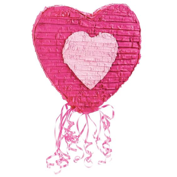 "Amazon.com: Heart 20"" Pull-String Pinata: Toys & Games"