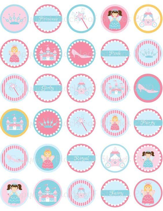 DIY Printable Princess Collage Sheet by blackleafdesign on Etsy, $3.00