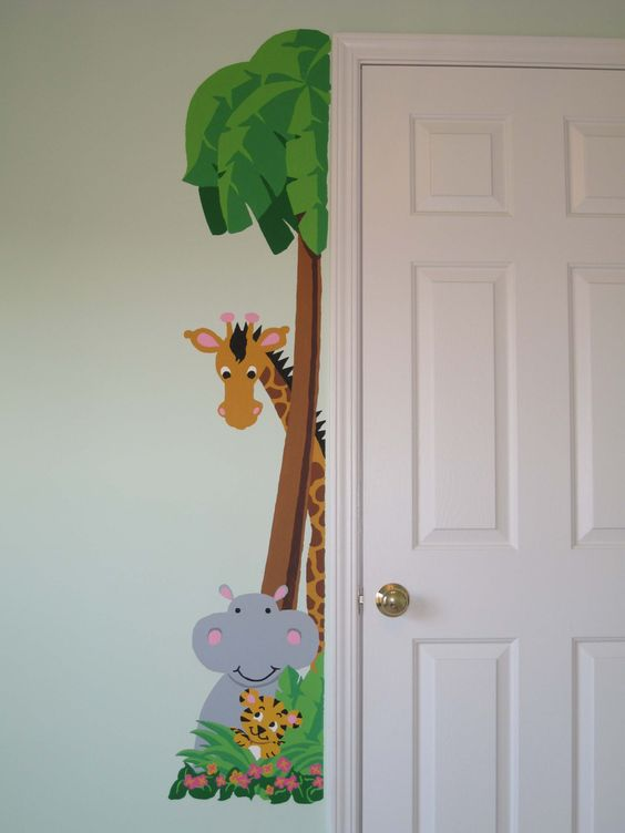 Happy murals and small spaces on pinterest for Easy mural painting